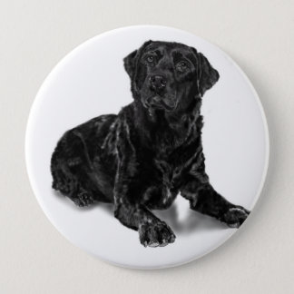 Black Lab 4 Inch Round Button