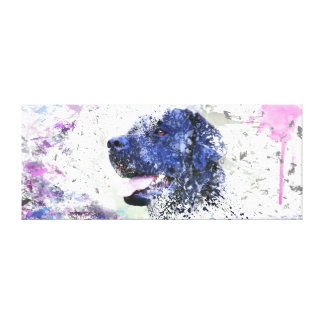 Black Lab Abstract Painting Labrador Retriever Dog Canvas Print