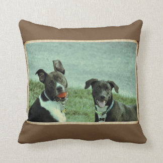 Black Lab and Terrier Dog Pillow