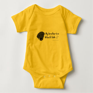 black lab baby bodysuit