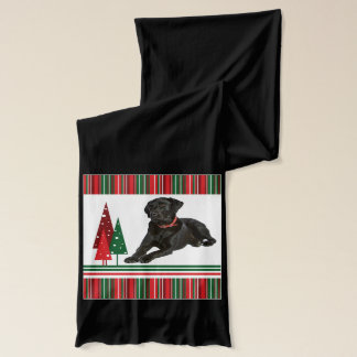 Black Lab Christmas Scarf