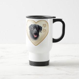 Black Lab Dog Travel Coffee Mug Cup
