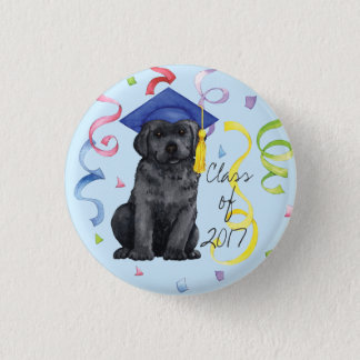 Black Lab Graduate 1 Inch Round Button