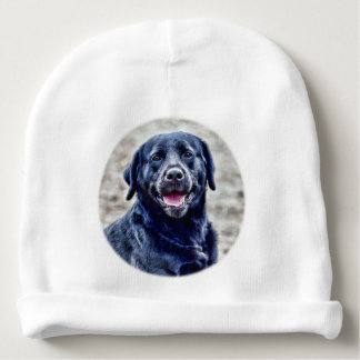Black Lab Head Baby Beanie