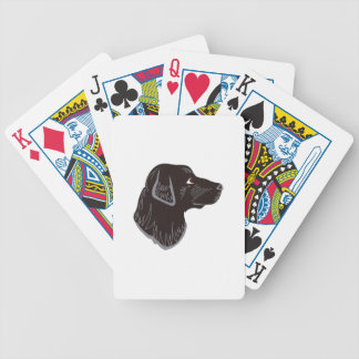 Black Lab Head Bicycle Playing Cards
