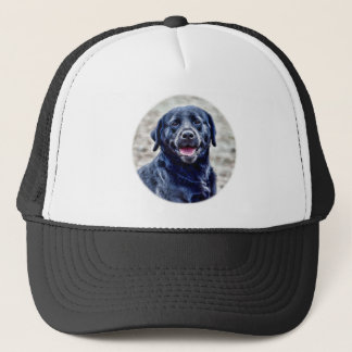 Black Lab Head Trucker Hat