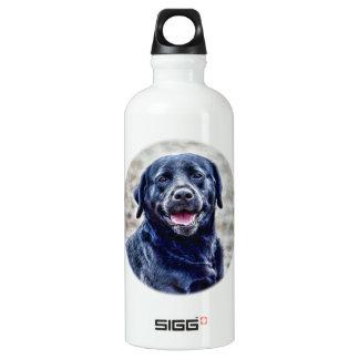 Black Lab Head Water Bottle