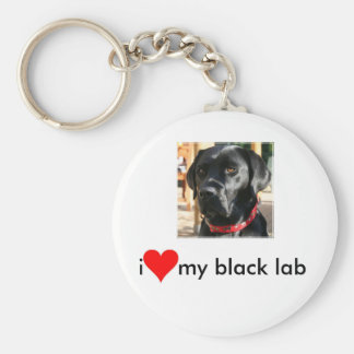 black lab key chain