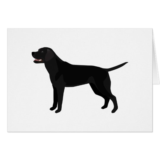 Black Lab - Labrador Retriever Breed Silhouette Card