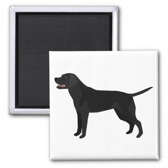 Black Lab - Labrador Retriever Breed Silhouette Magnet