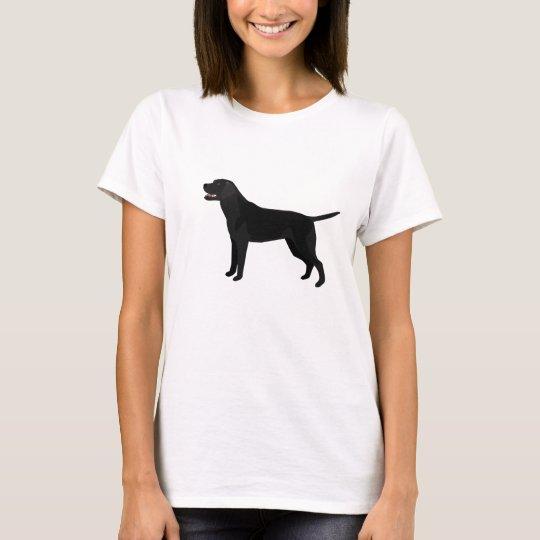 Black Lab - Labrador Retriever Breed Silhouette T-Shirt