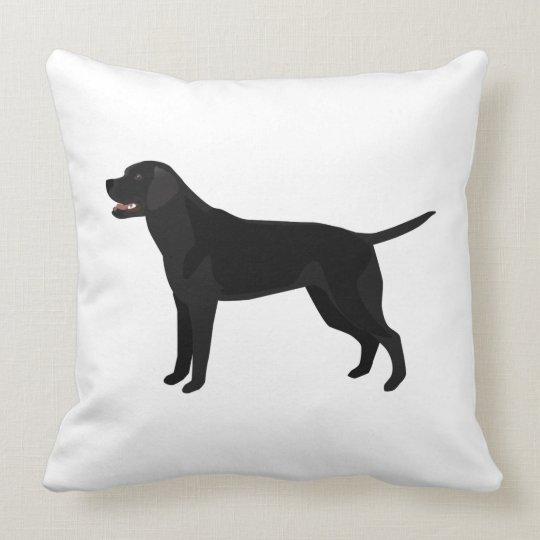 Black Lab - Labrador Retriever Breed Silhouette Throw Pillow