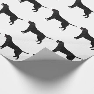 Black Lab - Labrador Retriever Breed Silhouette Wrapping Paper