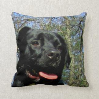 Black Lab Mix Dog Throw Pillow