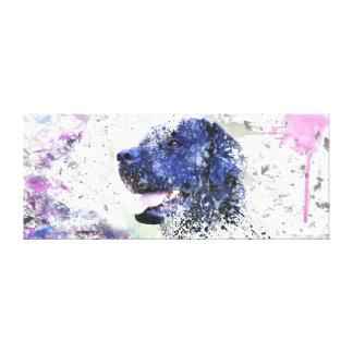 Black Lab Painting Labrador Retriever Canvas Print