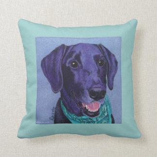 "Black Lab Pillow - ""Gus"""
