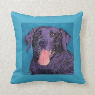 "Black Lab Pillow - ""Pinecone"""