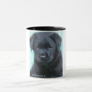 black lab puppy mug