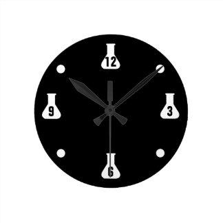 Black Lab Rat Round Clock