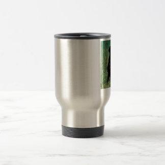 Black-Lab-Sitting Travel Mug