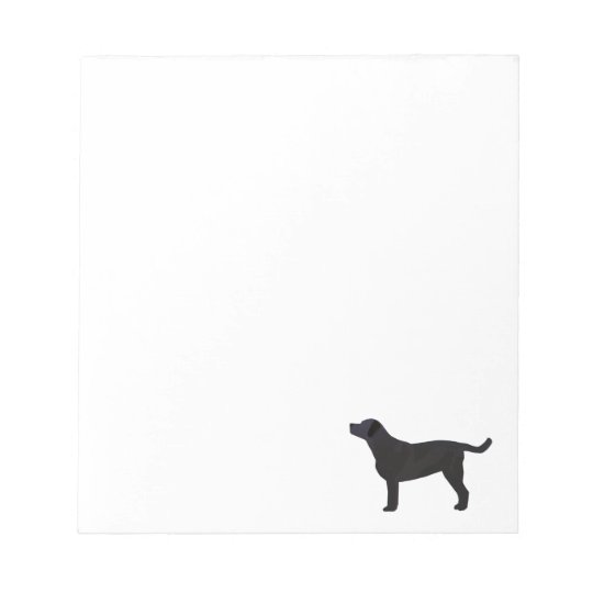Black Lab Templates Ready to Customize Notepad