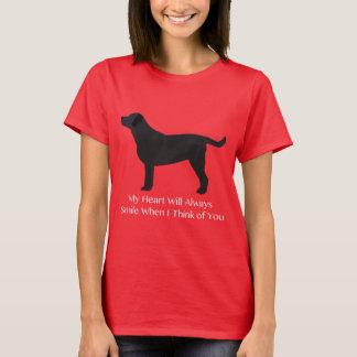 Black Lab Thinking of You Design T-Shirt