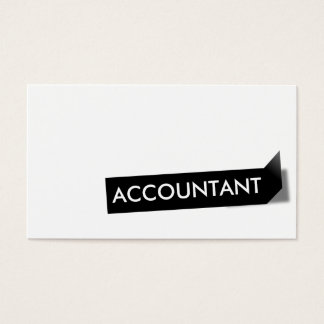 Black Label Accountant Business Card