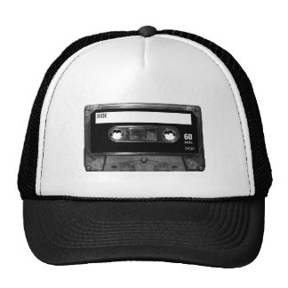 Black Label Cassette Tape Trucker Hat