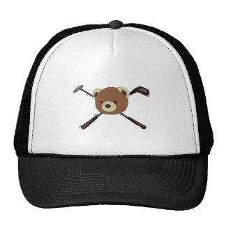 Black label trucker hat