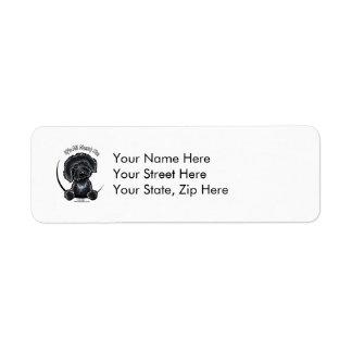Black Labradodle IAAM Return Address Label