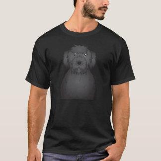 Black Labradoodle Cartoon T-Shirt
