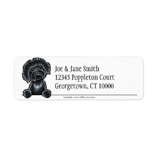 Black Labradoodle Clean & Simple Return Address Label
