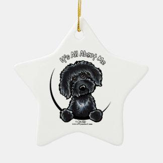 Black Labradoodle IAAM Ceramic Ornament