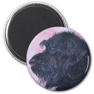 Black Labradoodle Magnet