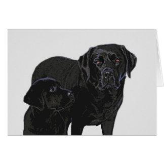 Black Labrador - Admiration in Puppy's Eye's Card