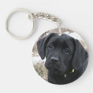 Black Labrador - Awaiting Spring Keychain