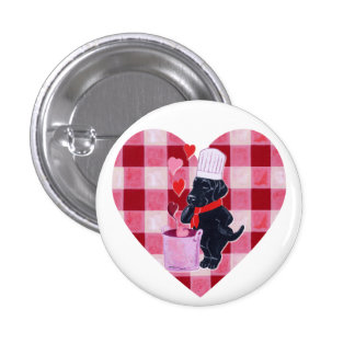 Black Labrador Chef Painting Buttons
