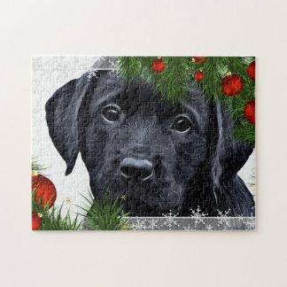 Black Labrador Christmas Jigsaw Puzzle