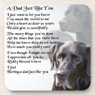 Black Labrador  Dad Poem Coaster