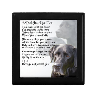 Black Labrador  Dad Poem Gift Box