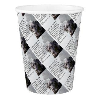 Black Labrador  Dad Poem Paper Cup