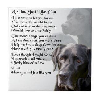 Black Labrador  Dad Poem Tile