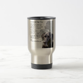 Black Labrador  Dad Poem Travel Mug