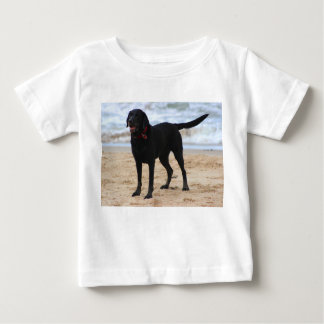 Black Labrador Dog Baby T-Shirt