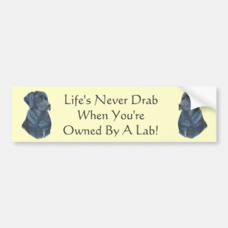 black labrador dog portrait art slogan design bumper sticker