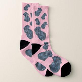 black labrador dog portrait original art design socks