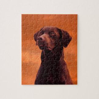 Black Labrador Dog Portrait Puzzles