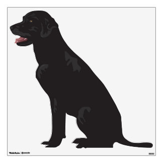 Black Labrador Dog Wall Decal