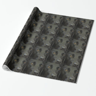 Black Labrador Dog Wrapping Paper