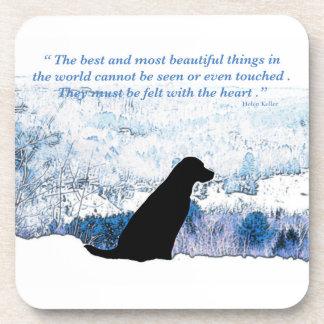 Black Labrador - Felt with the Heart Coaster